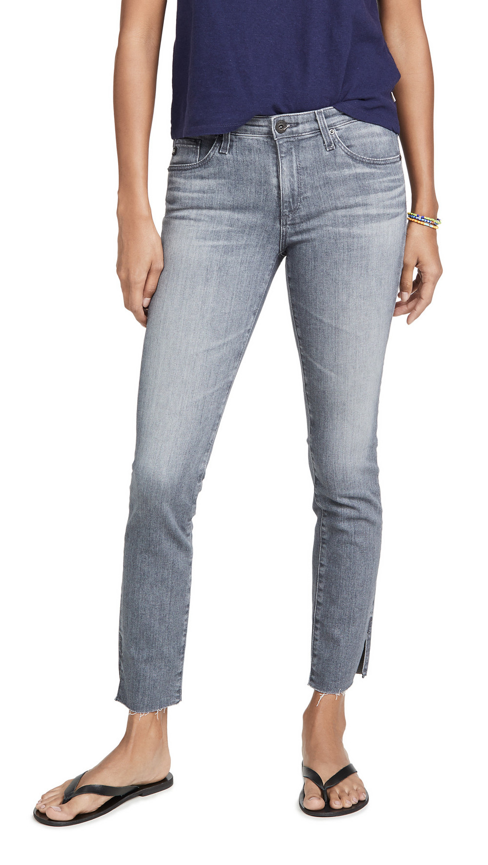 AG The Prima Ankle Skinny Jeans in grey