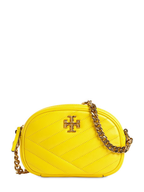 TORY BURCH Kira Chevron Quilted Leather Camera Bag in green