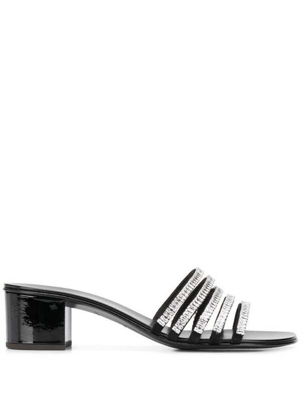 Giuseppe Zanotti crystal strappy sandals in black