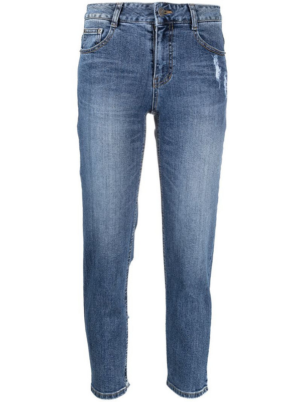 SJYP ripped detail skinny jeans in blue