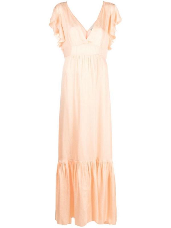 Forte Forte flutter-sleeve maxi dress in orange