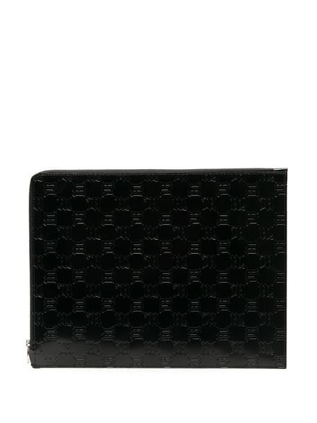 MISBHV embossed monogram clutch bag in black