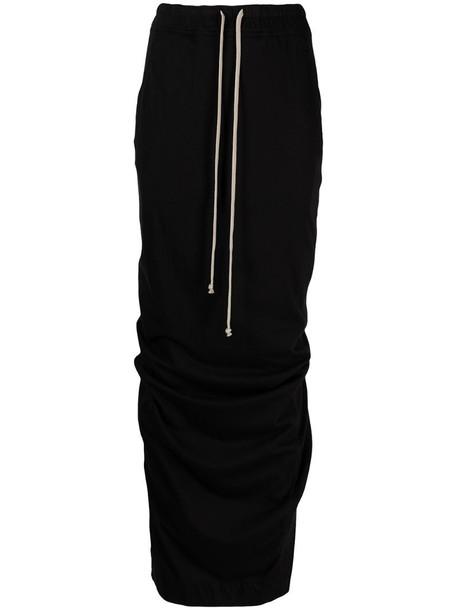 Rick Owens DRKSHDW drawstring-fastening cotton skirt in black