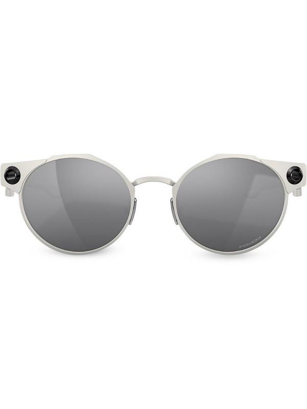 Oakley Deadbolt round frame sunglasses in grey