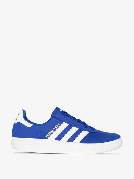 Adidas Blue Trimm Trab Suede Low Top Sneakers