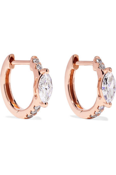 Anita Ko - Huggies 18-karat Rose Gold Diamond Earrings