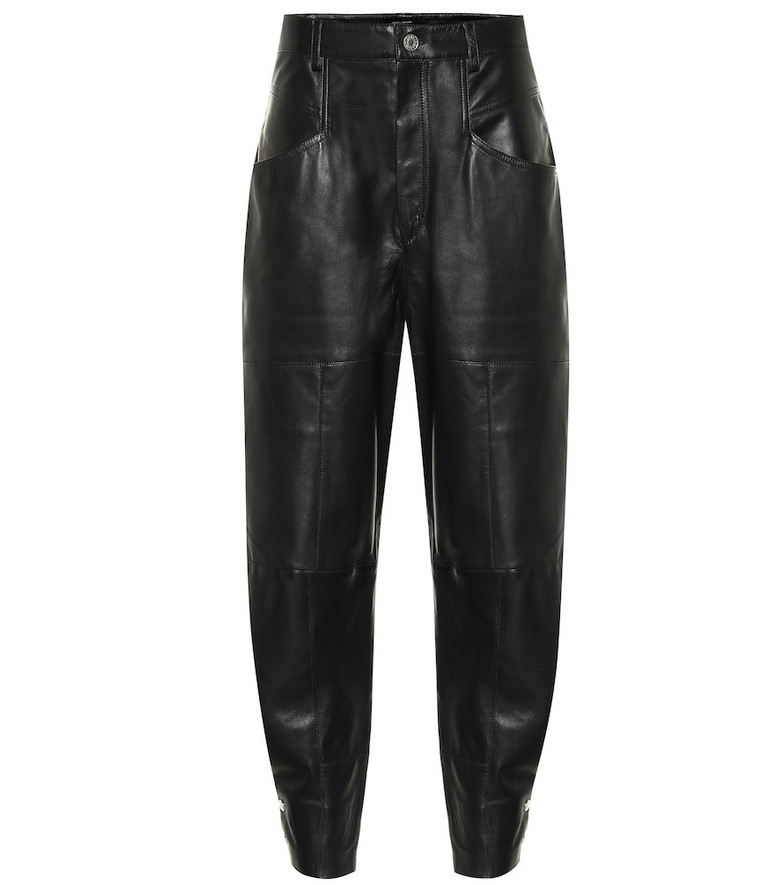Isabel Marant Xiamao high-rise leather pants in black