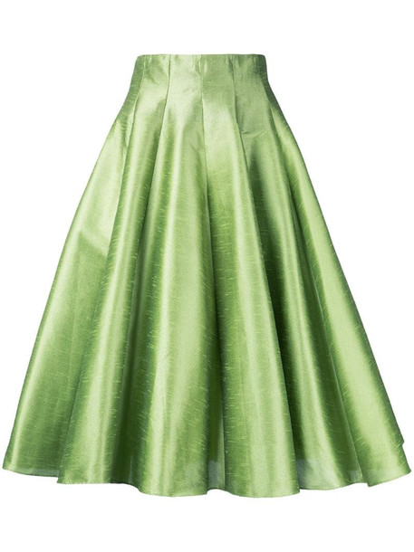 Bambah full midi skirt in green