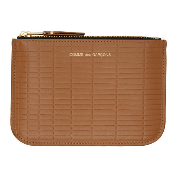 Comme des Garcons Wallets Tan Small Brick Pouch in beige
