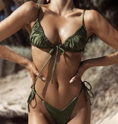 swimwear,beach,bikini,khaki,brazil,summer outfits
