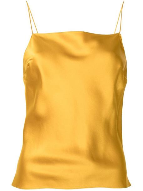 Dannijo silk cami tank top in yellow