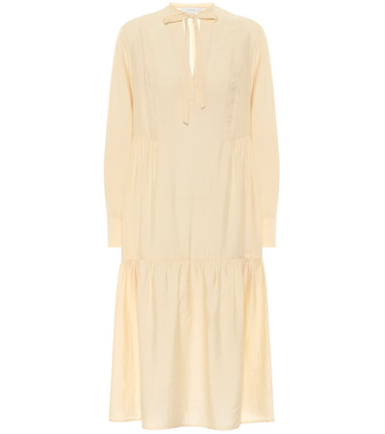 Vince Tiered midi dress in yellow