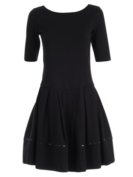 Emporio Armani Dress S/s A-line W/baguette in nero