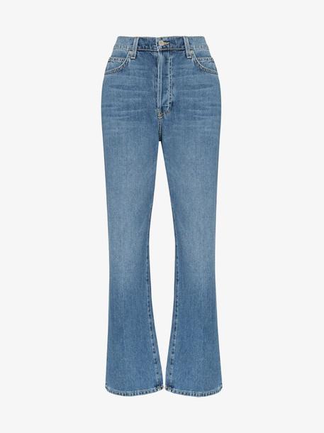 Eve Denim Juliette high-waisted straight leg jeans in blue