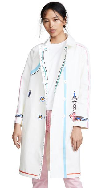 Mira Mikati Scribble Coat in white