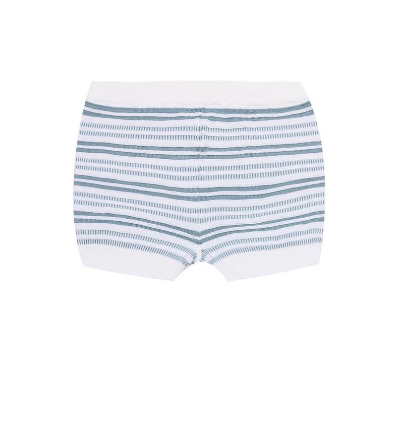 Loro Piana Kids Baby striped cotton shorts in blue