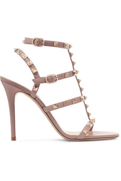 Valentino - Valentino Garavani The Rockstud 105 Leather Sandals - Antique rose