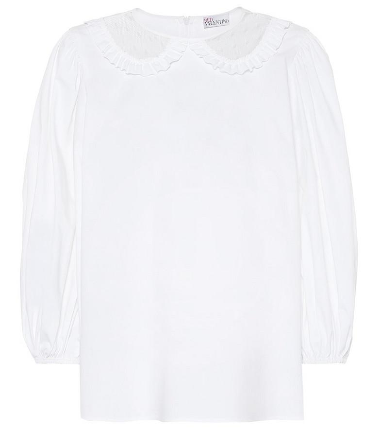 REDValentino Stretch-cotton top in white