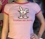 t-shirt,it's happy bunny,happy bunny,y2k fashion,y2k aesthetic