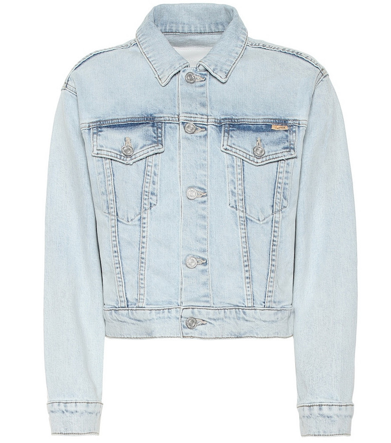Mother The Big Shorty denim jacket in blue