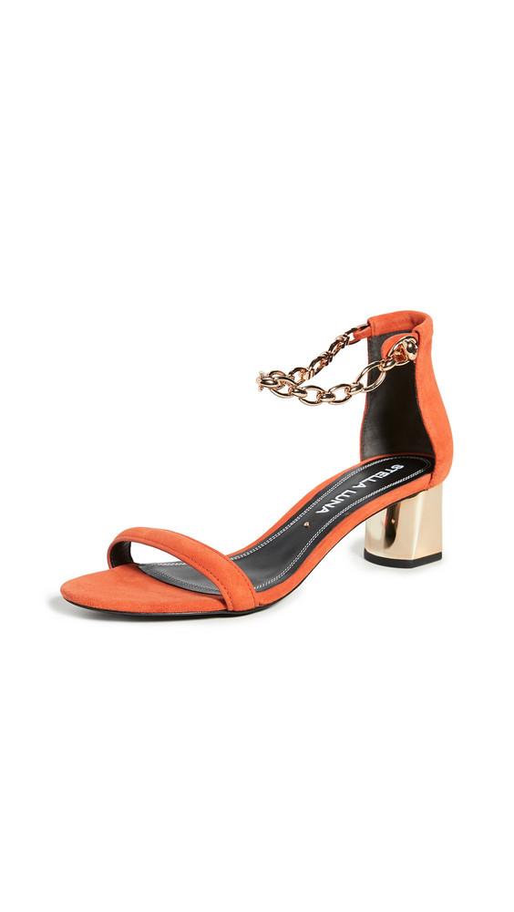 Stella Luna Ankle Chain Sandals in orange