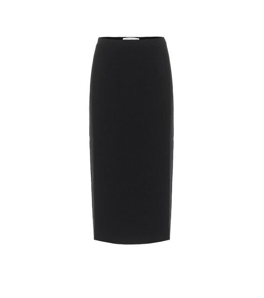 Alessandra Rich Tweed wool-blend pencil skirt in black