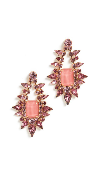 Elizabeth Cole Tallulah Earrings in pink