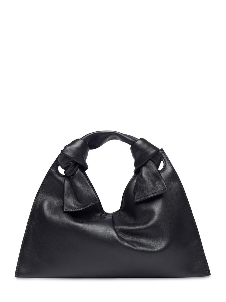 LITTLE LIFFNER Knot Leather Tote Bag in black
