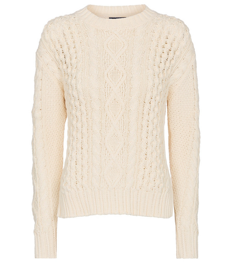 Polo Ralph Lauren Cable-knit cotton sweater in white
