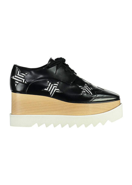 Stella McCartney Elyse Lace- Up Shoes With Stars in black