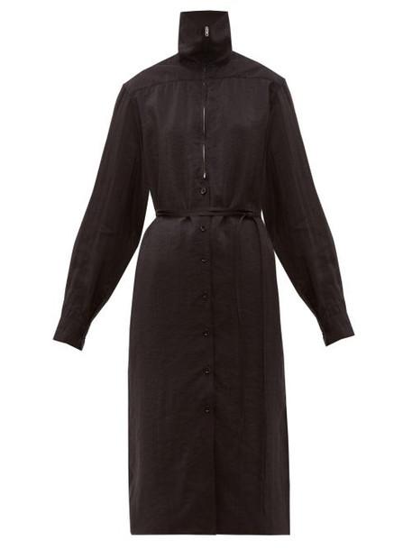 Lemaire - Zipped Silk Blend Dress - Womens - Black