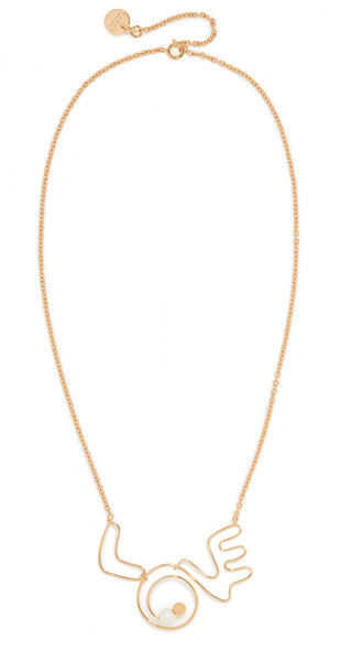 Marni Love Necklace in gold