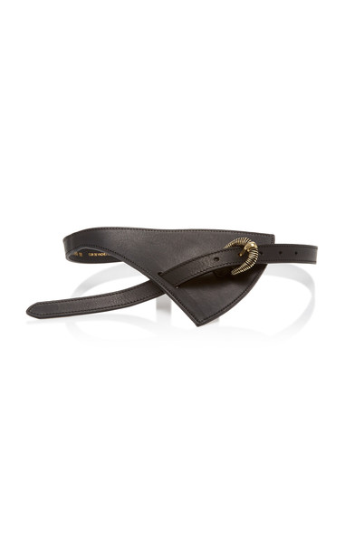 Maison Boinet Asymmetric Leather Belt Size: 75 cm