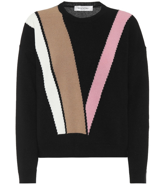 Valentino Wool and cashmere sweater in black