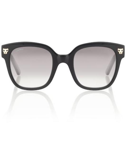 Cartier Eyewear Collection Panthère de Cartier square sunglasses in black