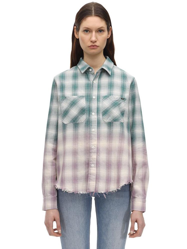 AMIRI Degradé Lurex Plaid Flannel Shirt