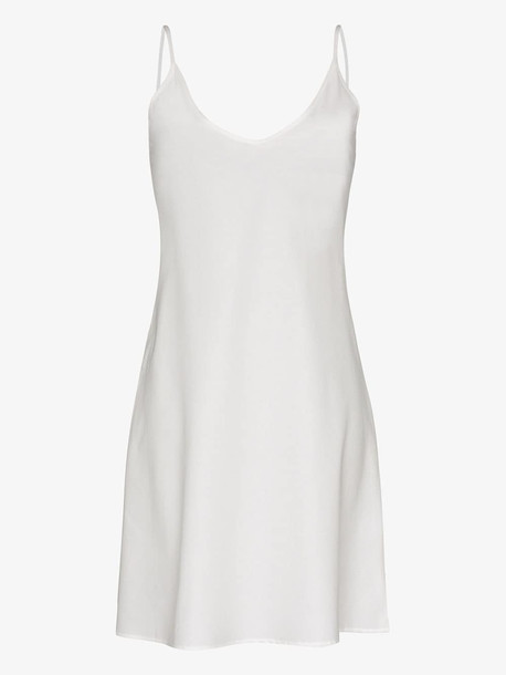 Pour Les Femmes Knee-length cotton slip nightdress in white