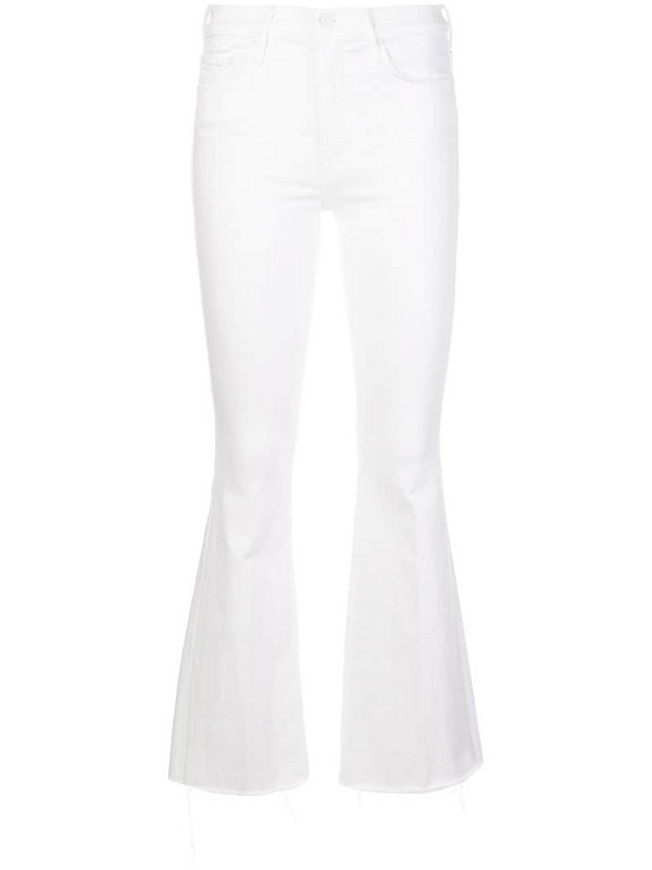 Mother high-rise flared jeans in white