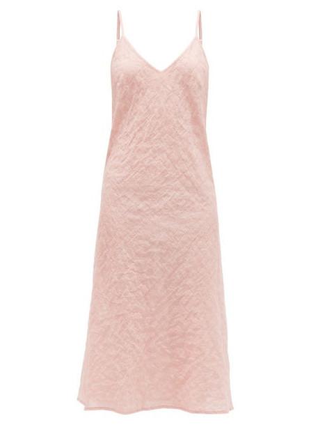 Pour Les Femmes - V-neck Cotton-voile Nightdress - Womens - Pink