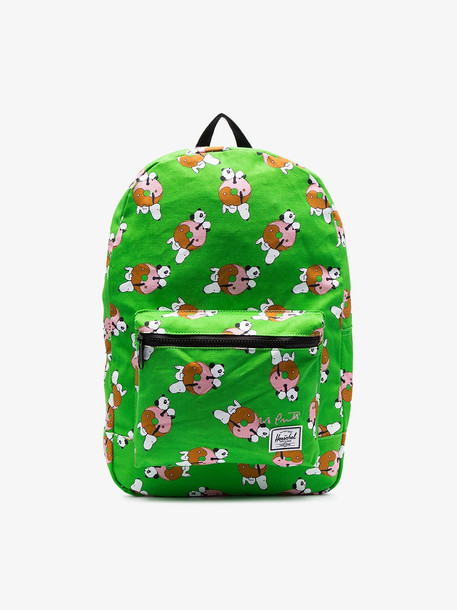 Herschel Supply Co. Herschel Supply Co. lime green Snoopy print dual compartment backpack