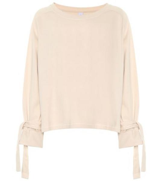 Varley Osprey cotton-blend sweatshirt in pink