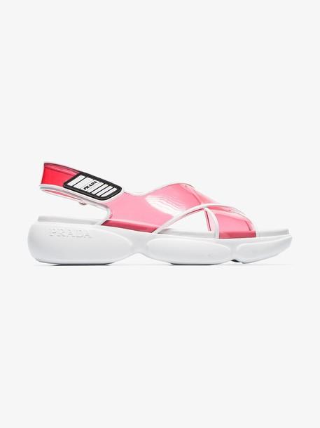Prada Pink 40 Cloudbust sandals