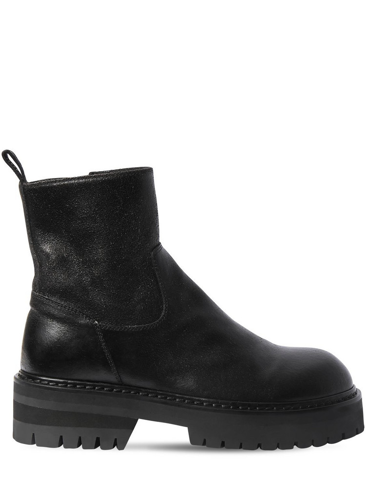 ANN DEMEULEMEESTER 50mm Leather Ankle Boots in black