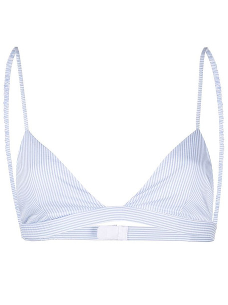 Andamane stripe-print bra in blue