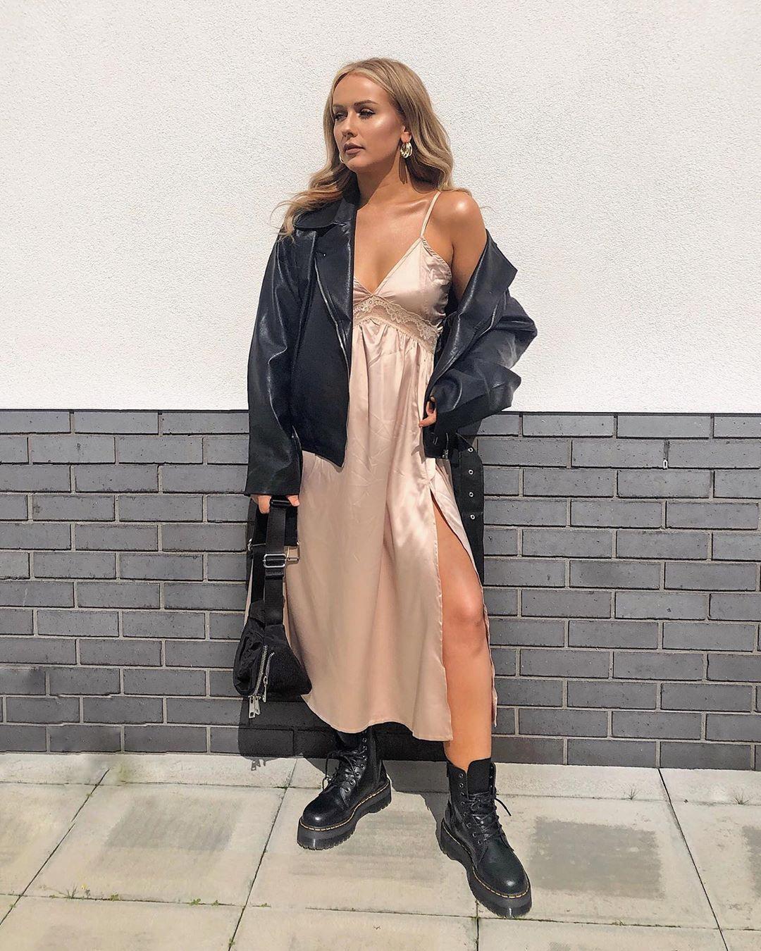 dress, slip dress, nastygal, black