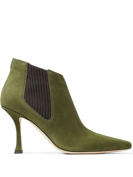 Jimmy Choo Maiara 90mm boots in green