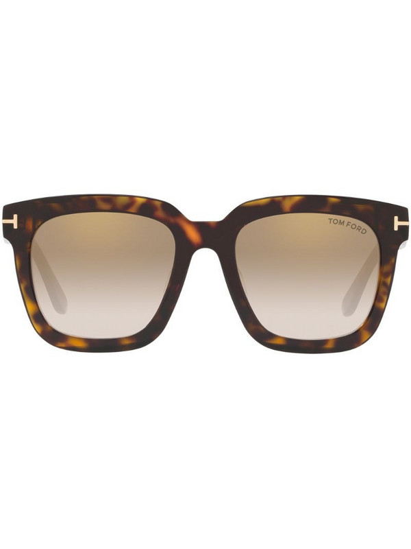 Tom Ford Eyewear tortoiseshell-effect square-frame sunglasses in brown
