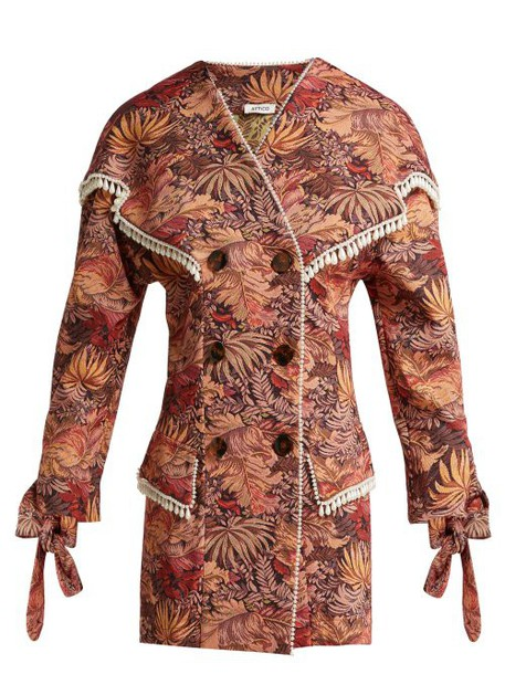 The Attico - Floral Tapestry Brocade Mini Dress - Womens - Pink Multi
