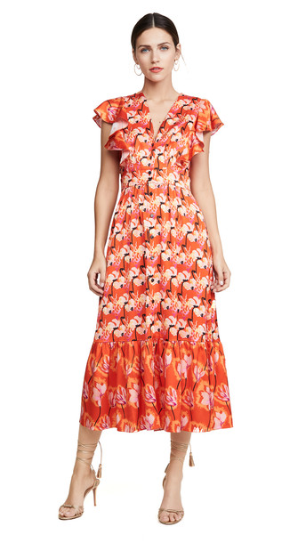 Temperley London Dragonfly Dress in red