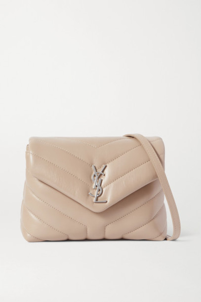 SAINT LAURENT - Loulou Toy Quilted Leather Shoulder Bag - Beige